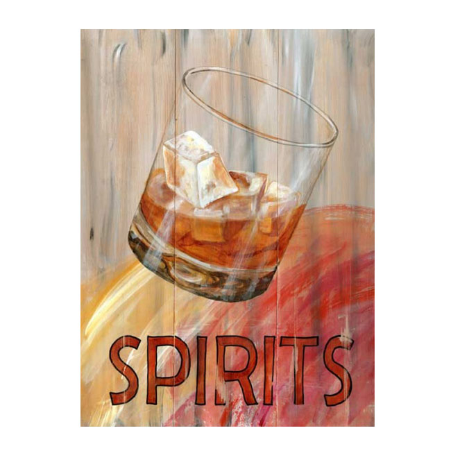 Spirits Vintage Cocktail Sign