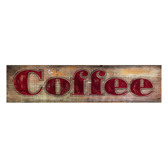 Rustic Coffee Wood Sign