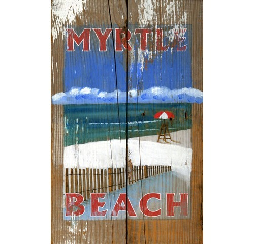 Myrtle Beach Lifeguard Wooden Sign