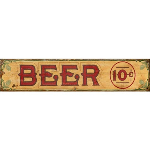 Beer Advertisement Wood Sign