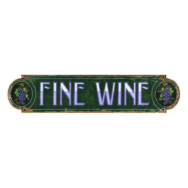 Fine Wine Wood Sign