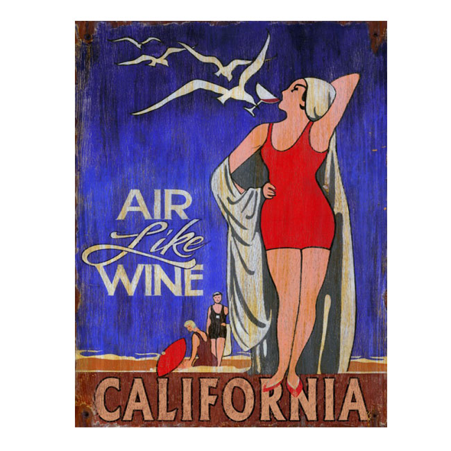 Air Like Wine California Wine Sign