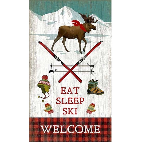 Eat Sleep Ski Welcome Lodge Sign