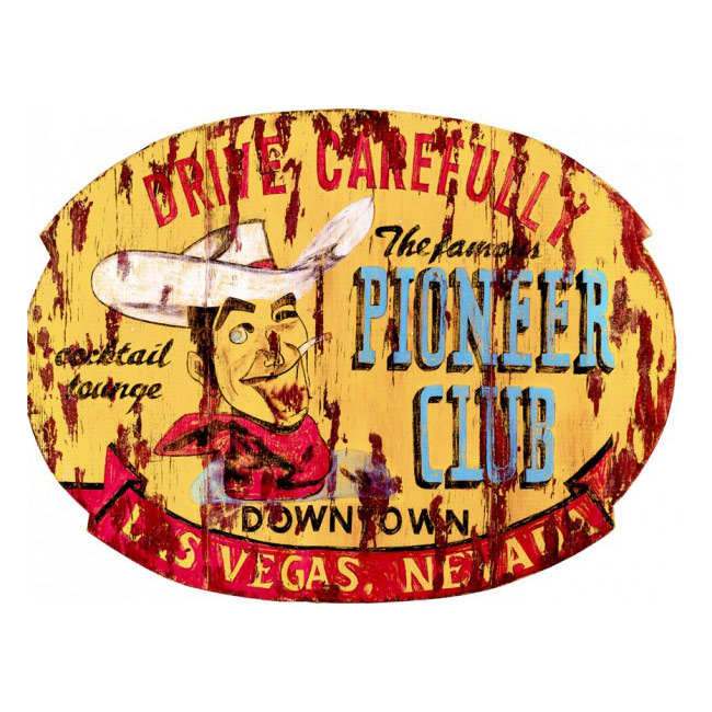 Pioneer Club Cocktail Lounge Sign