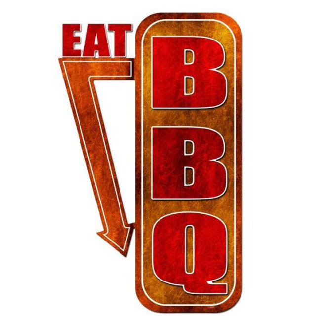 Eat BBQ Sign