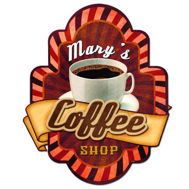 Personalized Coffee Shop 3D Sign