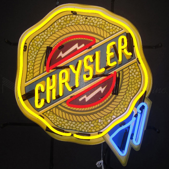 Chrysler Logo Neon Sign