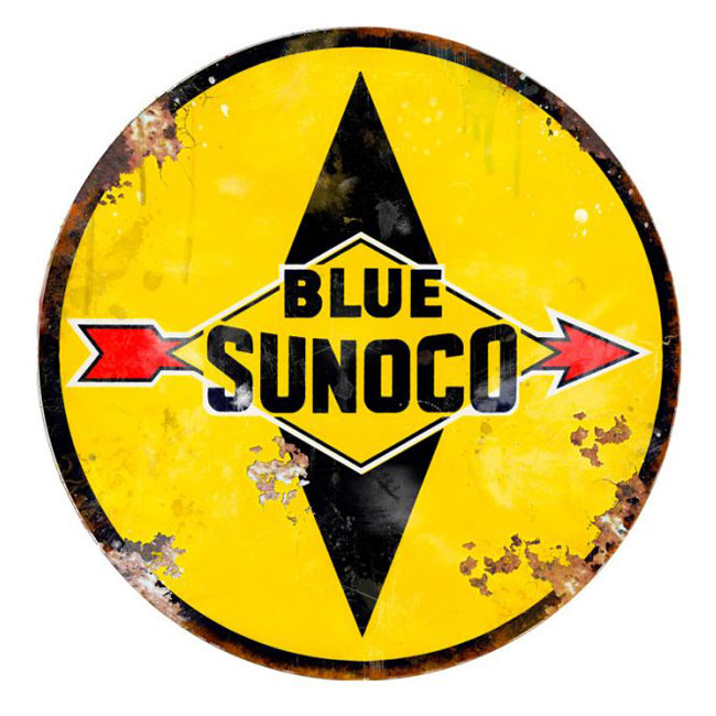 Blue Sunoco Sign