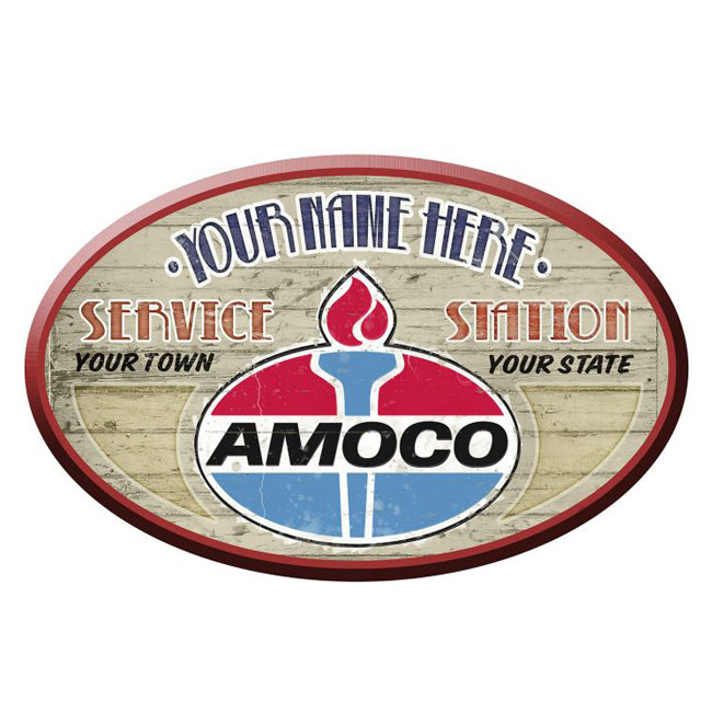 Amoco Gas Station Personalized Sign