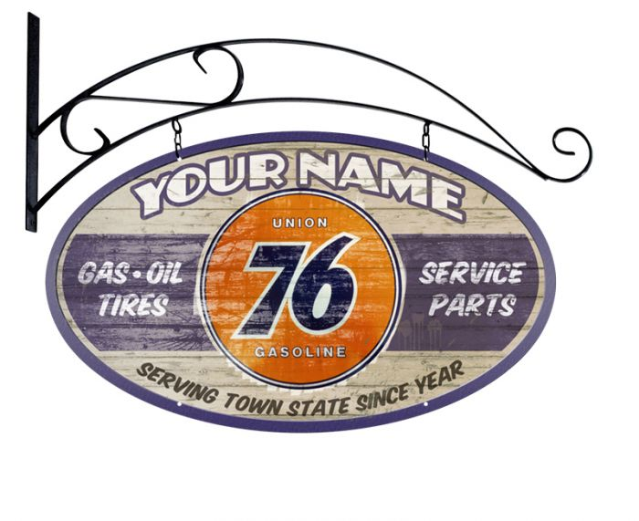 Union 76 Gasoline Personalized Station Sign