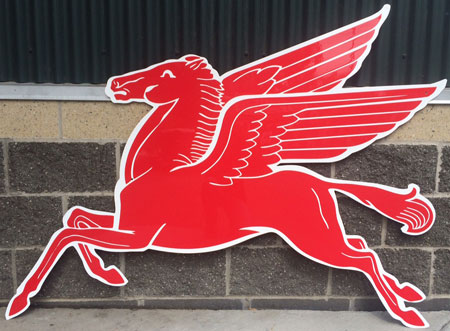 Mobil Flying Red Horse Pegasus Sign Extra Large