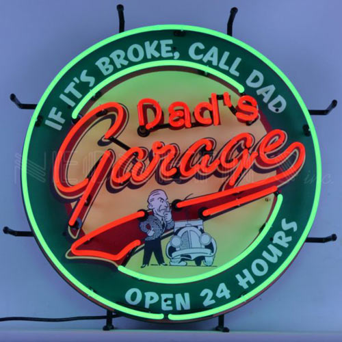 Dads Garage Neon Sign