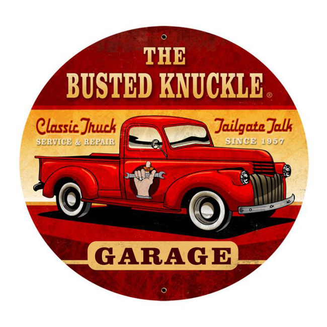 Busted Knuckle Truck Sign