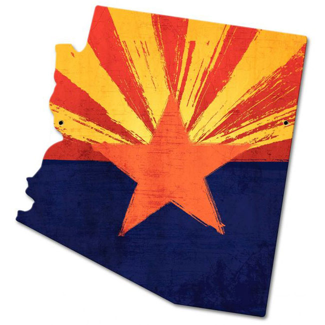Arizona State Flag Sign
