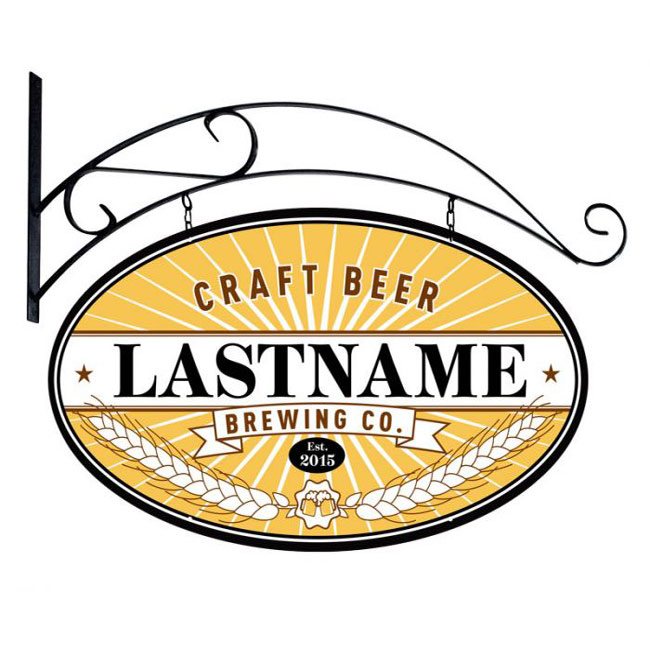 Craft Brewing Personalized Sign