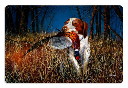 Brittany Spaniel Hunting Sign