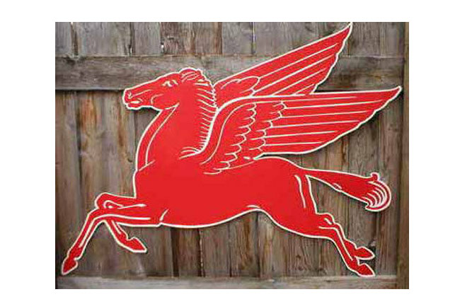 Mobil Flying Red Horse Sign