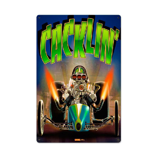 Cackle Fest Drag Racing Sign