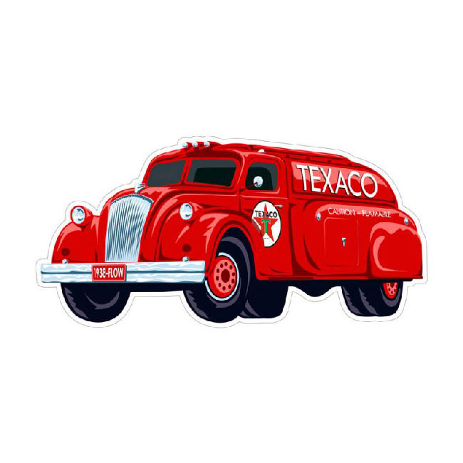 Texaco 1938 Airflow Gas Tanker Sign