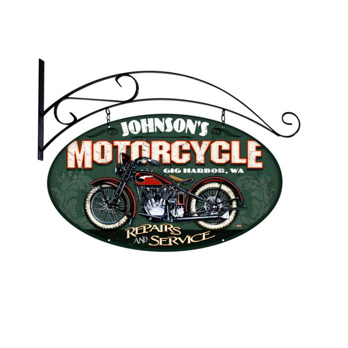 Motorcycle Sign Personalized