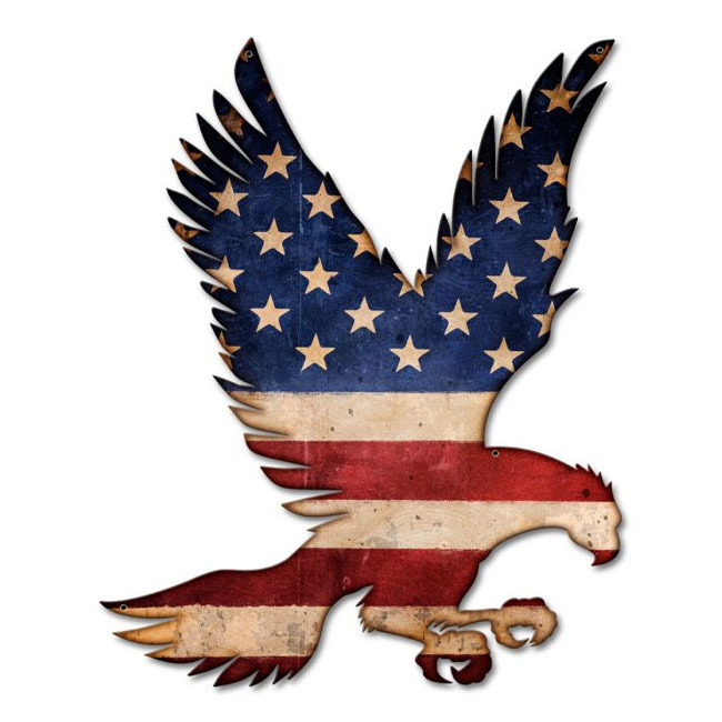 Flying American Eagle Sign