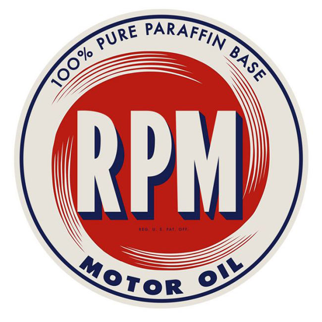 RPM Motor Oil Sign