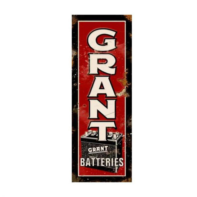 Grant Batteries sign