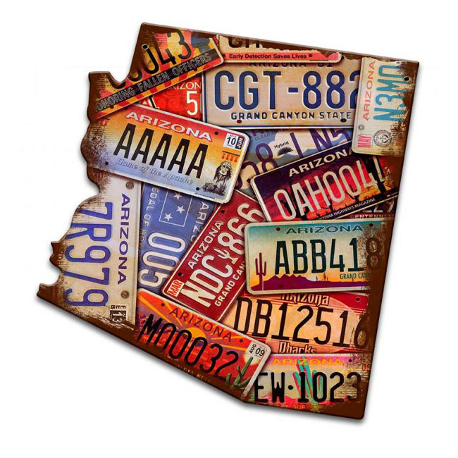 Arizona Vintage License Plate Sign