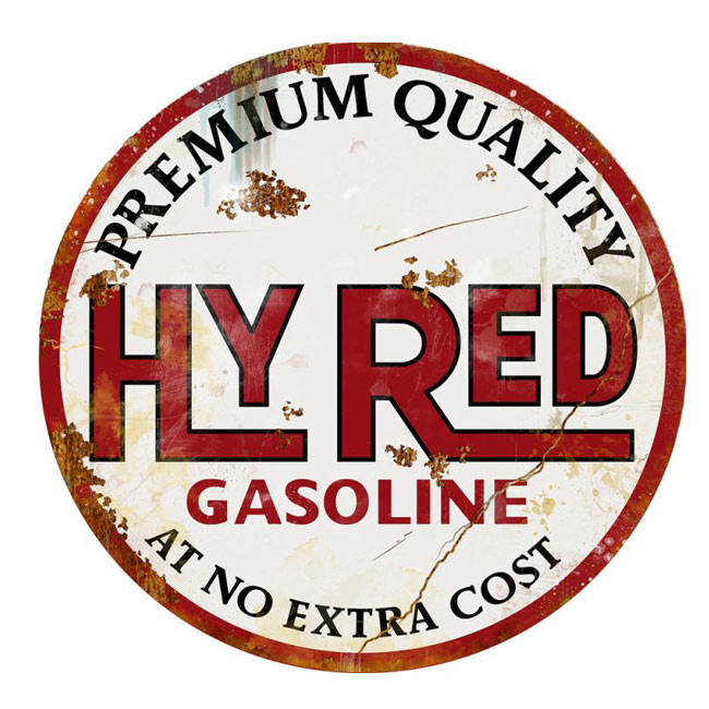 Hyred Gasoline Sign