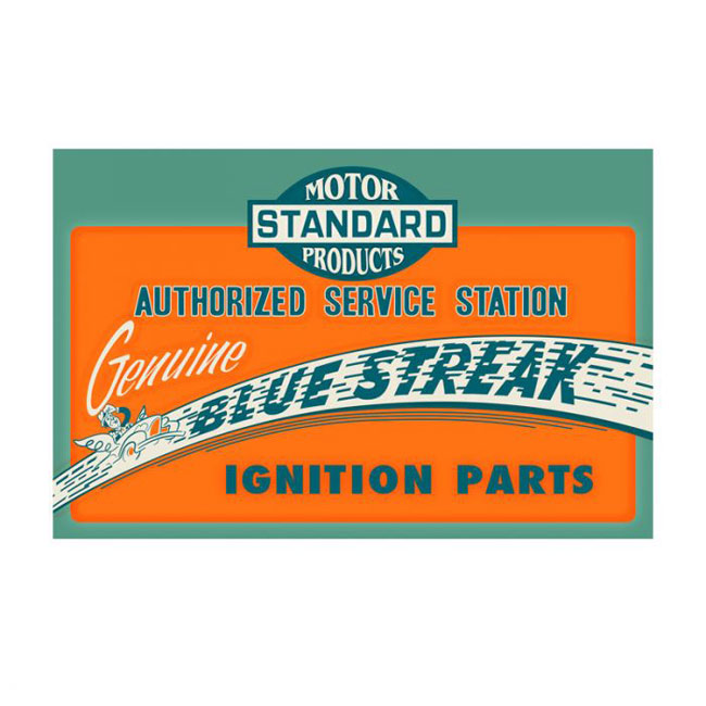 Blue Streak Ignition Parts Sign