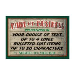 Custom Personalized Business Sign