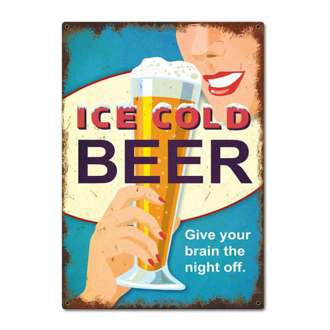 Beer Give Your Brain Off The Night Sign