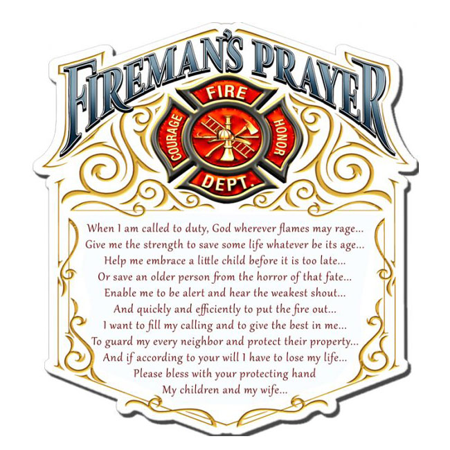Firemans Prayer Sign