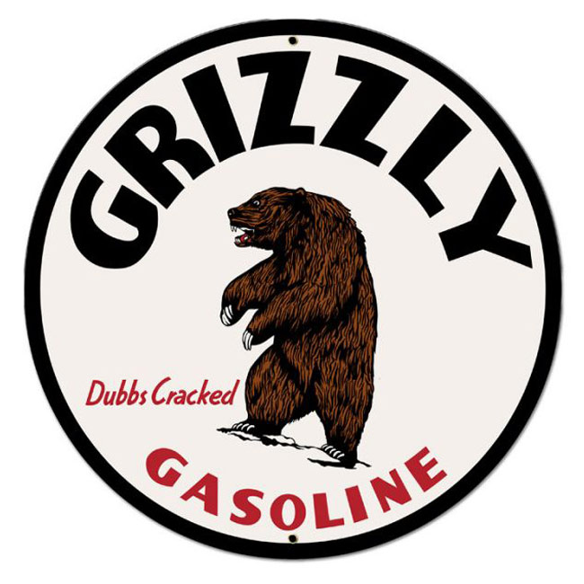 Grizzly Gas Sign