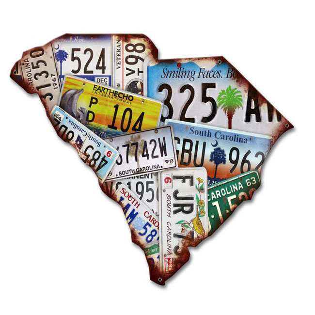 South Carolina License Plate Sign
