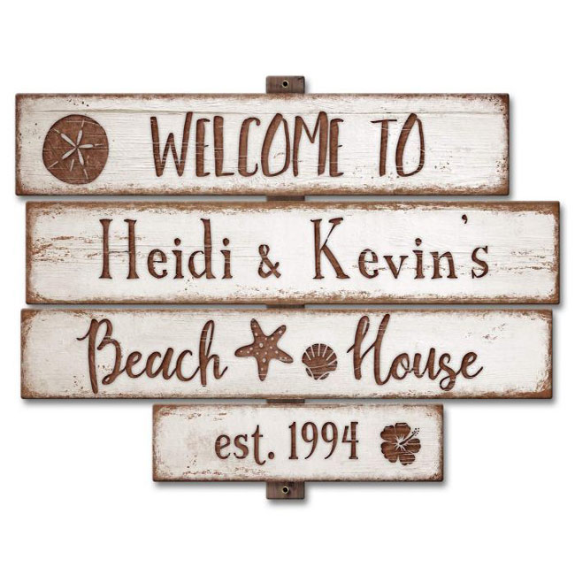Beach House Custom Personalized  Sign