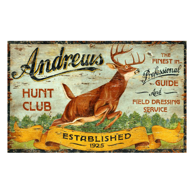 Hunt Club Sign Personalized