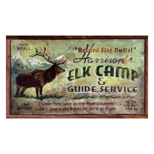 Elk Camp Personalized Sign