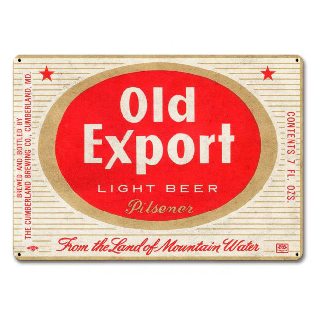 Old Export Beer Sign