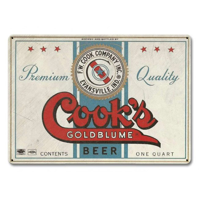 Cooks Goldblume Beer Sign