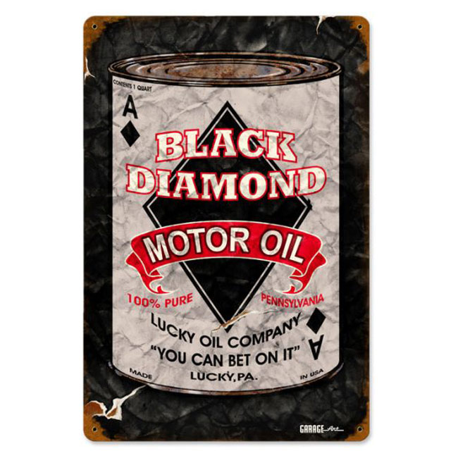 Black Diamond Motor Oil Sign