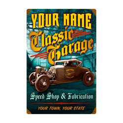 Classic Garage Personalized Sign