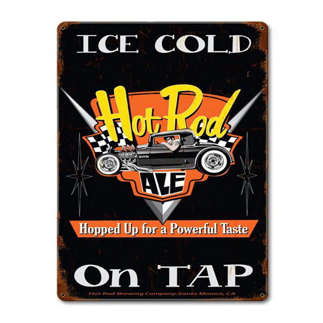 Hot Rod Ale Sign