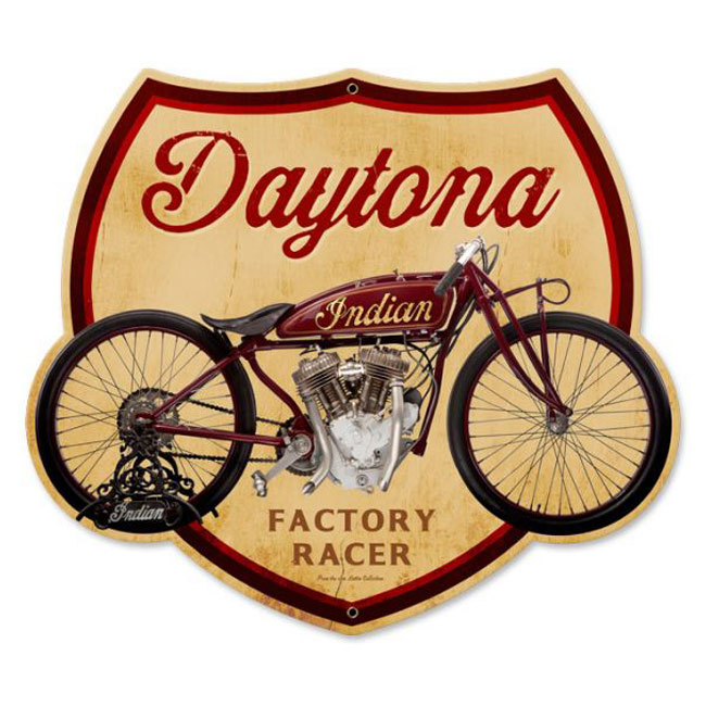 Daytona  Indian Factory Racer Sign