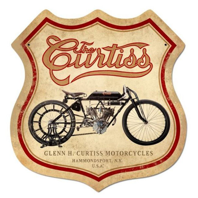 Curtis Motorcycle Sign