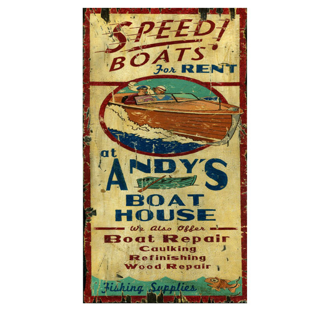 Boat House Sign