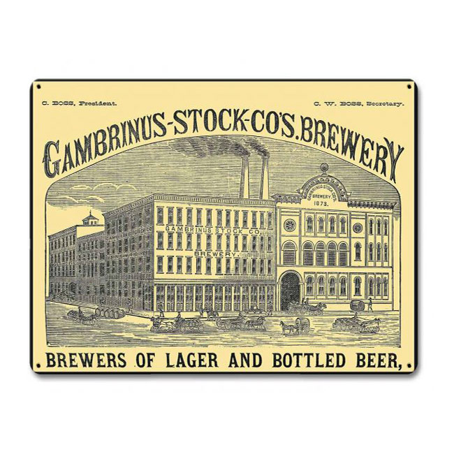 Gambrinus Stock Brewing Sign