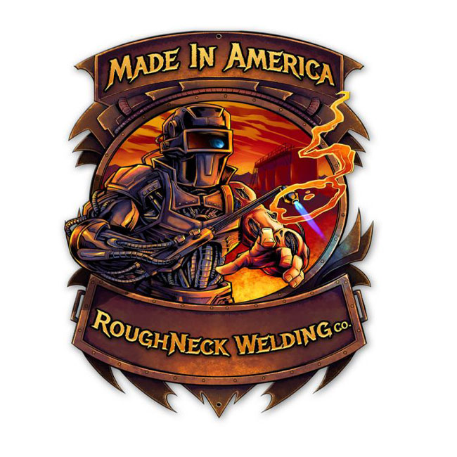 Roughneck Welding Sign