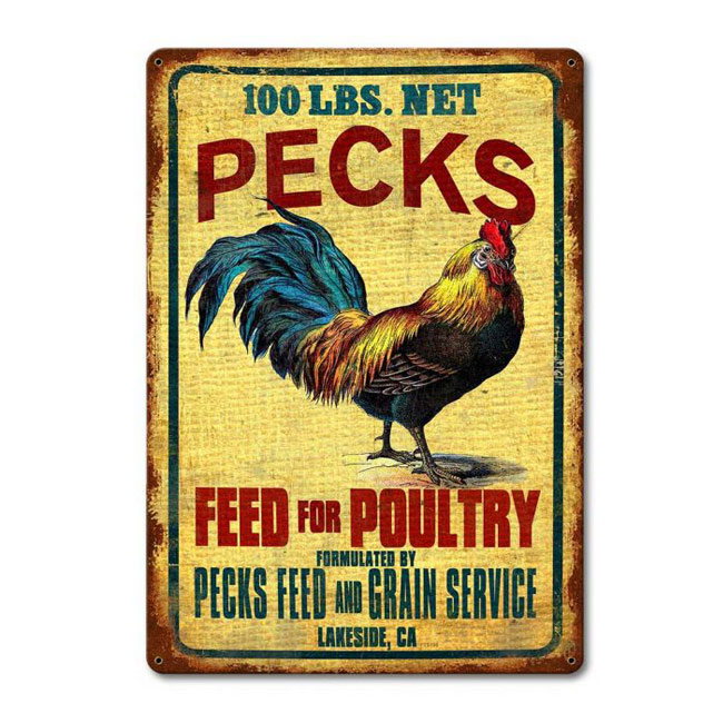 Pecks Feed Sign