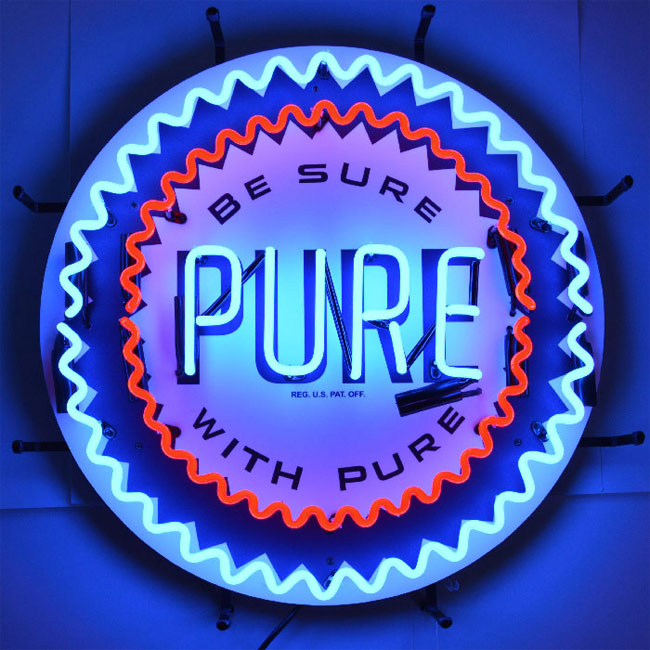 Pure Oil Neon Sign